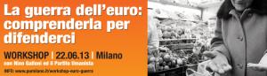 """Introduzione di Valerio Colombo al workshop """"La guerra dell'euro"""""""