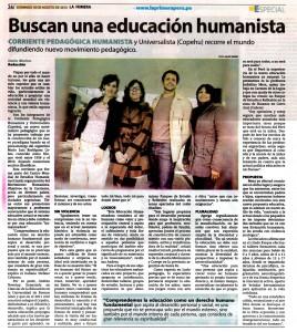 Attività della Corrente Pedagogica Umanista Universalista in Perù