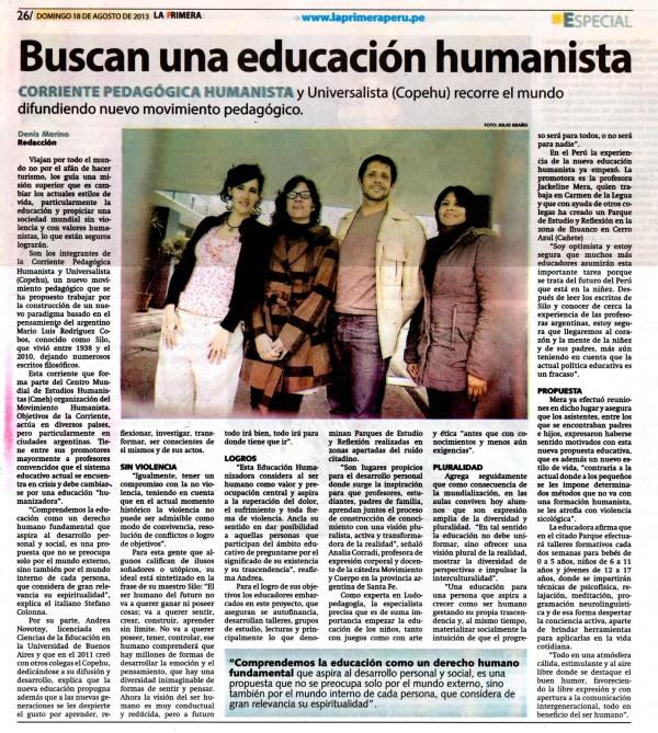 CoPeHU: actividades en Perú