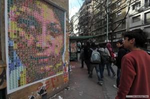 Mural contra la trata de personas en Buenos Aires