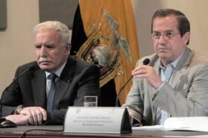 Ecuador y Palestina rechazan intervención extranjera en Siria