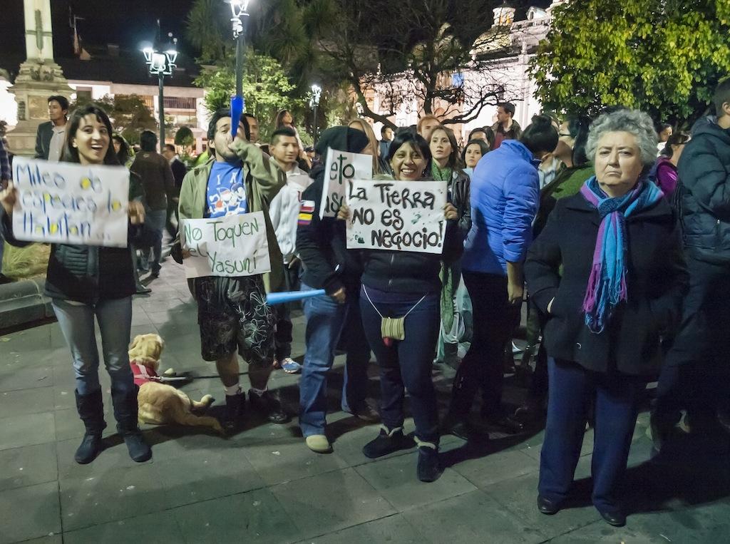 Ecuador protesta yasuni