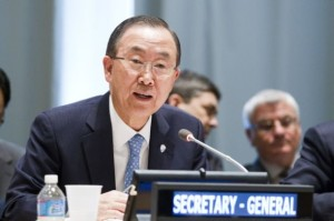 Ban Ki-moon se ciñe al guión de Washington para Egipto