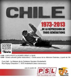 Bruxelles : Chile 1973-2013… de la répression de trois générations