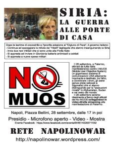 Napoli, piazza tematica contro la guerra e la militarizzazione