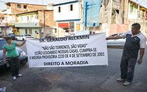 Governador de São Paulo leiloa terrenos onde vivem 400 pessoas sem comunicar as famílias