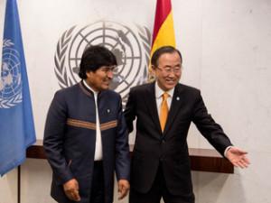 Ban ki-moon destaca crecimiento económico de Bolivia y liderazgo mundial de Morales