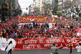 Movilizaciones en España contra reforma de ley del aborto