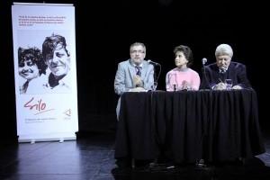 Luis Ammann en la presentación del libro de Pía Figueroa «Silo, el Maestro de nuestro tiempo»