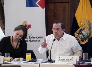 """Canciller Patiño: """"Una campaña mentirosa y difamatoria busca desprestigiar al Ecuador"""""""