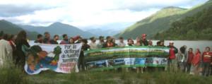 ¡No a las centrales hidroeléctricas en lago Neltume!