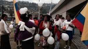 La marcha de las mujeres amazónica llegó hoy a Quito