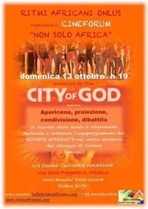 """Cineforum """"Non solo Africa"""" – Apericena solidale e proiezione di """"City of God"""""""