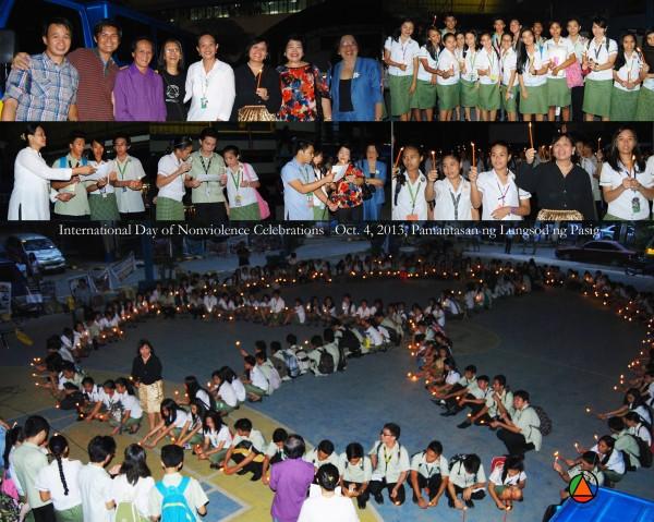 Philippines: Pasig City celebrates International Day of Nonviolence.