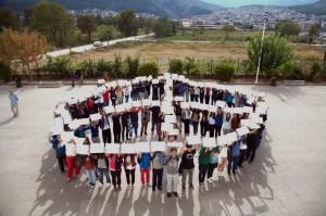 Simbolo della pace a Livadeia, in Grecia