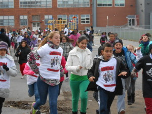 Canada. Les écoles courent pour la paix et la nonviolence