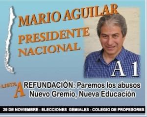 Mario Aguilar compite por la presidencia del Colegio de Profesores