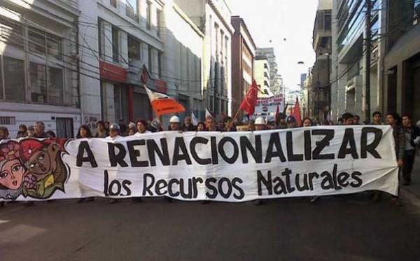 Chile: Espectacular 83% de apoyo a la nacionalización del cobre