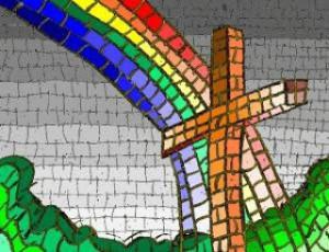 Besada ante la catedral de Málaga contra la homofobia religiosa