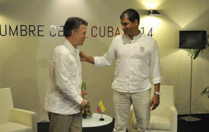 Ecuador dispuesto a apoyar al gobierno de Colombia en eventuales diálogos con el grupo insurgente ELN