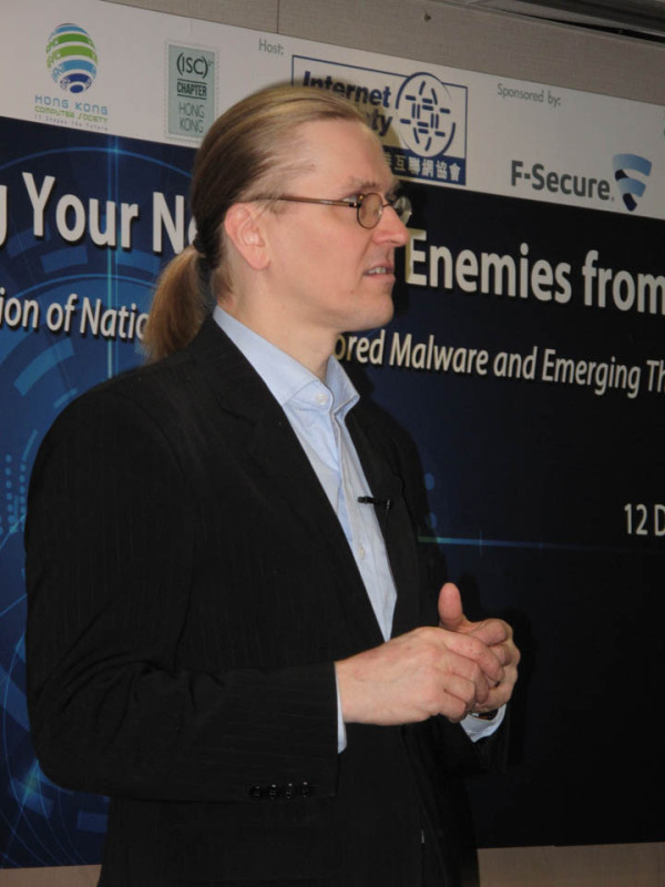 Mikko Hypponen – Emerging Threats to the Net