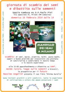 """Scambio dei semi e di saperi. Il """"mandillo"""" a Milano"""