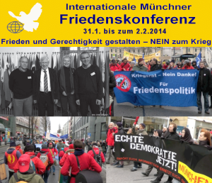 Friedenskonzepte statt (Un-)Sicherheitsdenken – Die Münchner Friedenskonferenz
