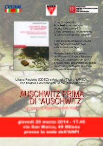 """Auschwitz prima di """"Auschwitz"""""""
