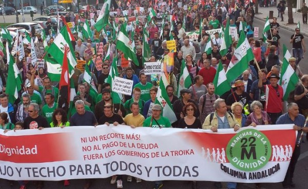 Spanien – Protestzug der Würde überfluten Madrid