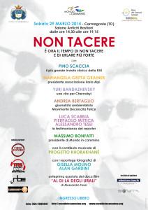 """""""Non tacere"""": un evento per parlare di Ilaria Alpi, Miran Hrovatin, diritti umani e nucleare"""