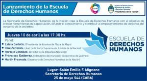 La Secretaría de Derechos Humanos lanza la Escuela de Derechos Humanos