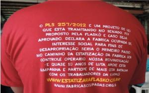 Uma ação simples e você ajuda os trabalhadores que fazem autogestão na fábrica Flaskô, no Brasil
