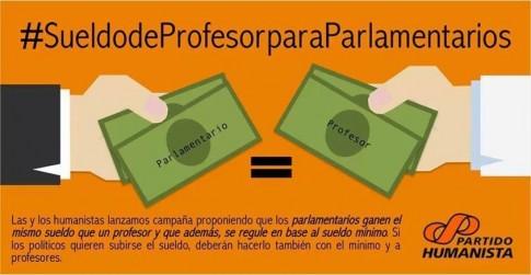 Partito umanista cileno: campagna per la riduzione delle indennità parlamentari