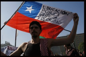 Marcha estudiantil por la reforma educacional Chilena