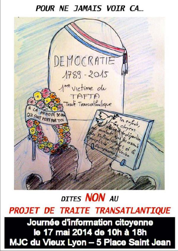 Journée européenne de mobilisation contre le grand marché transatlantique (Tafta), pour des alternatives à l'austérité