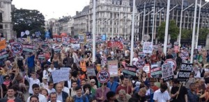 UK: Estimated 50,000 march in London against ConDems's austerity