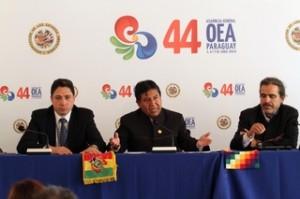 OEA: Bolivia pide a Chile diálogo de 'buena fe' para resolver demanda marítima