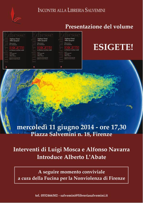 Esigete: presentazione a Firenze del libro postumo di Stéphane Hessel