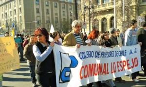 Apoyo a huelga en CHile