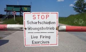 Gewaltfreie Platzbesetzung eines Truppenübungsgelände