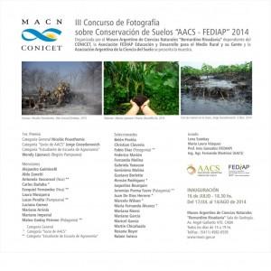 """Exposición del III Concurso de Fotografía sobre Conservación de Suelos """"AACS – FEDIAP"""" 2014"""