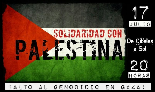 ¡Alto al genocidio en Gaza!, manifestación en Madrid
