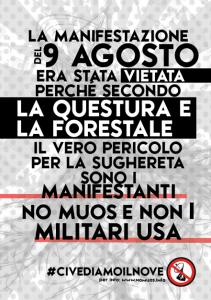 Manifestazioni No Muos dal 6 al 12 agosto 2014