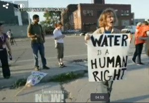 Detroit Residents Stage Civil Disobedience over Water Shutoffs; Activist Charity Hicks Dies