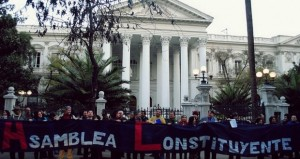 Asamblea Constituyente: Iniciativa Doce Puntos entrega carta en La Moneda