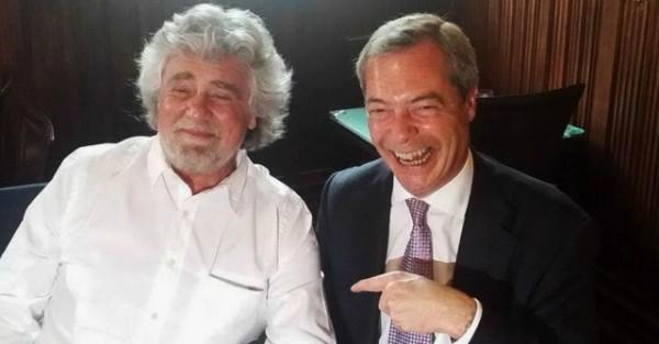 Grillo y Farage: no tan extraños compañeros de cama
