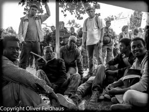 Konflikt um die Flüchtlingsproteste spitzt sich zu