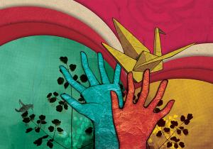Se presenta la campaña 'Grullas por la paz'