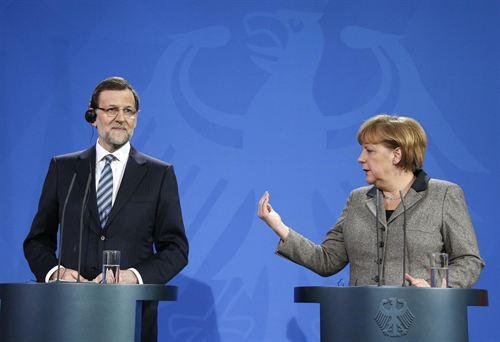 Rajoy promete a Merkel más recortes: «Vamos a seguir con las reformas estructurales»