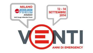 20 anni: Emergency festeggia a Milano dal 12 al 14 settembre